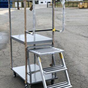 stock picking ladder cart three quarter view